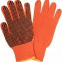 """Продам перчатки х/б трикотажные с ПВХ напылением """"Оранжевые"""""""